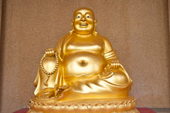 Statue monk golden Royalty Free Stock Photo