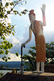 Statue of a monk-hermit on the island of Koh Samui Stock Image