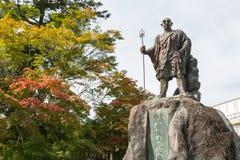 Statue of Monk Shodo Shonin. NIKKO, JAPAN - OCTOBER 20, 2016: Statue of Monk Shodo Shonin in front of Rinnoji temple in autumn, Nikko, Tochigi, Japan Stock Image