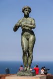 Statue in Montjuic Barcelona Royalty Free Stock Photo