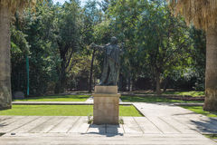 Statue in the Montjuic city park, Barcelona Stock Image