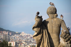 Statue on Montjuic mountain in Barcelona, Spain Royalty Free Stock Photo