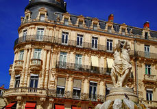 Statue Montpelier de trois graces Photo stock