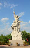 Statue and monument of Vietnamese soldier Stock Image