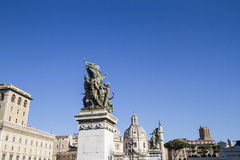 Statue Monumento Nationale Rome stock photography