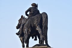 Statue Monuments Stock Photograph. Man sitting on a horse statue monuments one of the famous ones around the India Royalty Free Stock Photo
