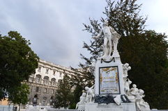 Statue of Morzart in Vienna Stock Images