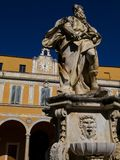 Statue of Moses at the Archbishop`s Palace in Pisa, Italy. The statue of Moses in the inner courtyard of the Archbishop`s Palace, Palazzo dell`Arcivescovado in Stock Photography
