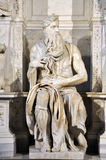 Statue of Moses by Michelangelo in the church of San Pietro in V Royalty Free Stock Image