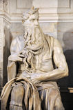 Statue of Moses by Michelangelo in San Pietro in Vincoli church Stock Photo