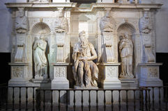 Statue of Moses, Rome Royalty Free Stock Images