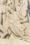 Statue of Mother and Child at the Monument of Victor Emmanuel II at Piazza Venezia in Rome Stock Photo