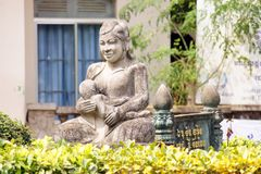 Statue Mother with child, Siem Reap cambodia. Statue Mother with child on hands, Siem Reap cambodia Stock Image
