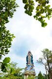 Statue of Mother Mary assumpta in place of pilgrimage cave Maria Kerep Ambarawa, Indonesia. The statue of Mary in the courtyard of the place of pilgrimage for stock photos