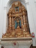 Statue of Mother Mary in Basilica of Bom Jesus, Goa royalty free stock image