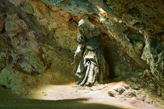 Statue of Mother Shipton`s cave in Knaresborough Stock Photography