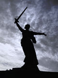 Statue of mother with a sword  in Volgograd Royalty Free Stock Photo