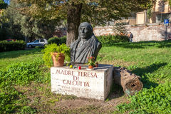 The statue of Mother Teresa Royalty Free Stock Photo