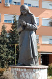 Statue of Mother Teresa in Struga, Macedonia Stock Image
