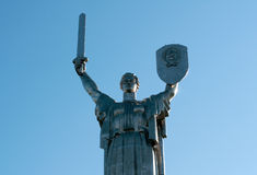 Statue of the Motherland, in Kiev, Ukraine Royalty Free Stock Photos