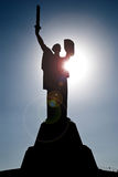 Statue of the Motherland in Kiev Stock Images