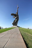 Statue of Motherland (Rodina-Mat'), Volgograd Royalty Free Stock Photo