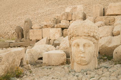 Statue at Mount Nemrut Royalty Free Stock Images