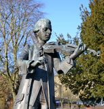 A statue of Mozart Stock Photos