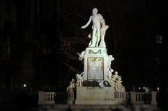 Statue of Mozart in Burggarten garden Stock Images