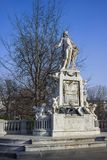 Statue of Mozart in Vienna stock photography
