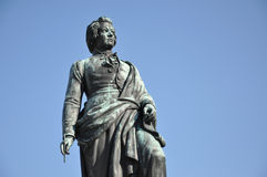 The statue of Mozart, Salzburg, Austria Stock Photography