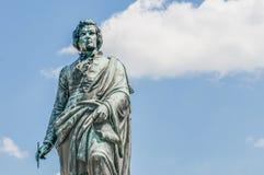 Statue on Mozart Square in Salzburg, Austri Royalty Free Stock Photo