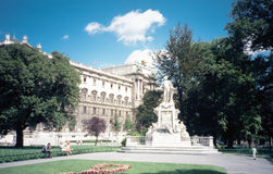 Statue of Mozart, Vienna Royalty Free Stock Photo