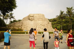 The statue of Mr. Sun Zhongshan, in China Royalty Free Stock Photography