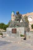 Statue of  Muhammad ibn Muso al-Khorazmiy, in Khiva, Uzbekistan Royalty Free Stock Photography