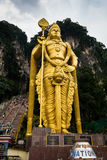 Statue of Murugan at entrance of Batu Caves in Kuala Lumpur Malaysia. royalty free stock photos