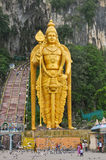 Statue of Murugan outside the Batu Caves in Malaysia Royalty Free Stock Image