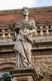 Statue of the muse Euterpe, Richmond-Upon-Thames royalty free stock image