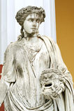 Statue of a Muse Melpomene. In the balcony of Achillion princess Sissy's palace in Corfu, Greece. Melpomene was mainly considered as the Muse of tragedy Royalty Free Stock Photos