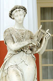 Statue of a Muse Terpsichore. In the balcony of Achillion princess Sissy's palace in Corfu, Greece. Terpsichore was the Muse of the dance and the dramatic Stock Photos