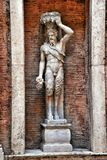 Hellenistic statue of a Satyr in Museum Capitolini, Rome Italy Royalty Free Stock Photos