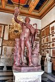 Statue Faun in rouge antique marble in Museum Capitolini, Rome Italy Stock Photo