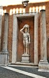 Hellenistic statue of a Satyr in Museum Capitolini, Rome Italy Stock Photo