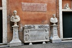 Busts in Museum Capitoline Royalty Free Stock Image