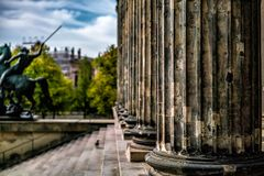 Statue at the Museum Island in Berlin. Germany stock image