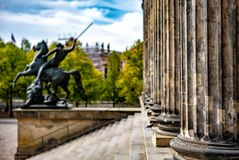 Statue at the Museum Island in Berlin. Germany royalty free stock photography