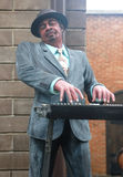 Statue musician. Playing piano Royalty Free Stock Photo