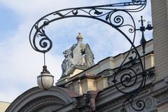 Statue of a mystical animal on the roof of the opera house. Kiev Royalty Free Stock Photo