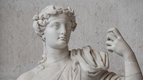 Statue of  naked handsome Apollo with a raising hand, Rome, Ital Royalty Free Stock Photos
