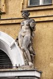 Statue of the naked lady on the door arch Royalty Free Stock Photo